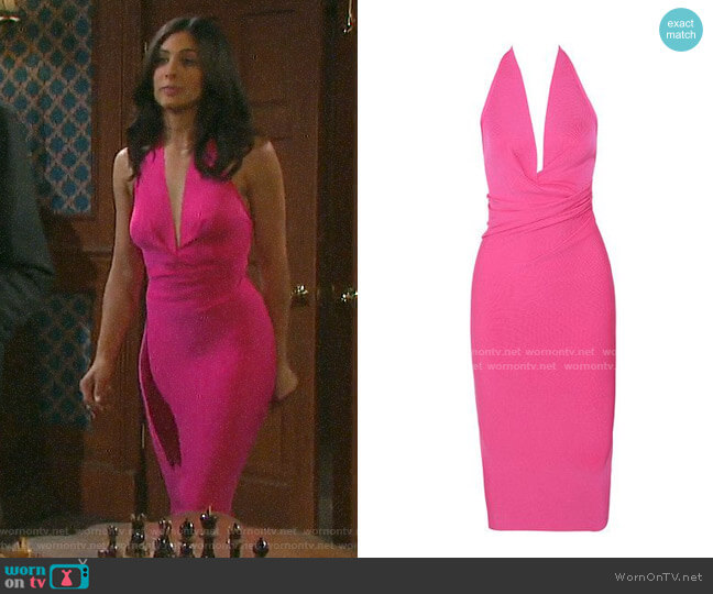 House of CB Marisa Dress worn by Gabi Hernandez (Camila Banus) on Days of our Lives