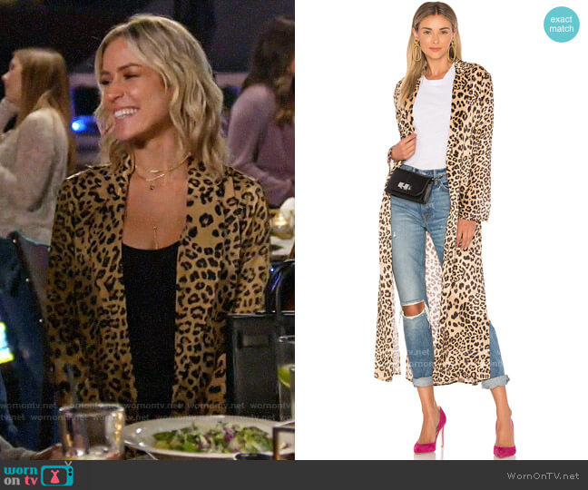 House of Harlow 1960 x Revolve Delaney Duster worn by Kristin Cavallari  on Very Cavallari