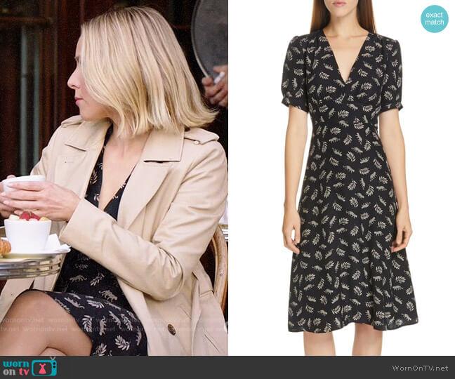 HVN Paula Print Dress worn by Eleanor Shellstrop (Kristen Bell) on The Good Place