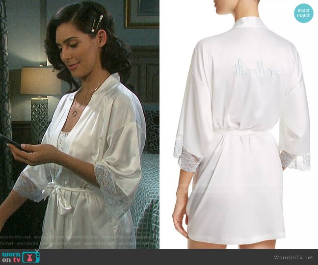 In Bloom by Jonquil The Mrs Wrap Robe worn by Gabi Hernandez (Camila Banus) on Days of our Lives