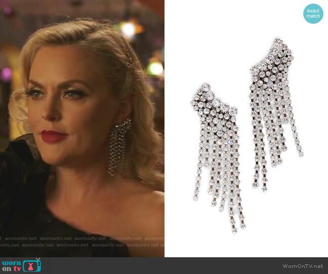 Chandelier Earrings by Isabel Marant worn by Alexis Carrington (Elaine Hendrix) on Dynasty