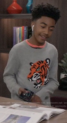 Jack's tiger face sweater on Black-ish