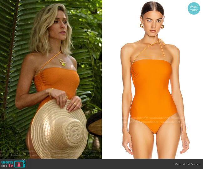 Jacquemus Alassio Swimsuit worn by Kristin Cavallari  on Very Cavallari