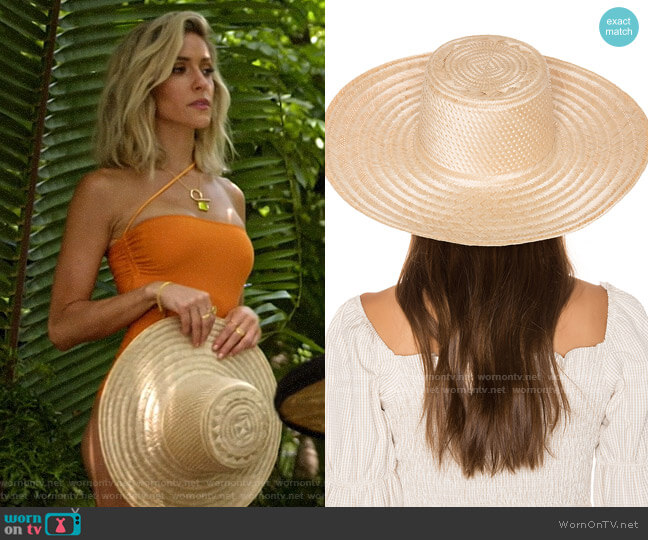 Janessa Leone Elsa Boater Hat  worn by Kristin Cavallari  on Very Cavallari