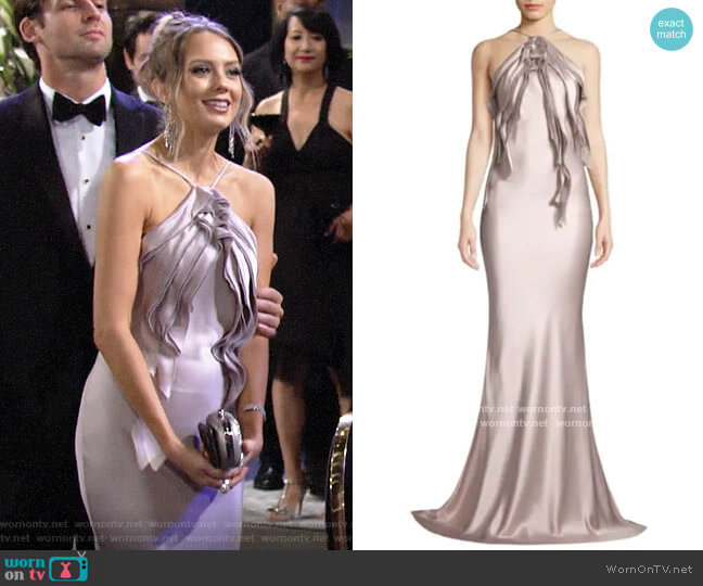 Jason Wu Collection Crepe Back Satin Gown worn by Abby Newman (Melissa Ordway) on The Young & the Restless