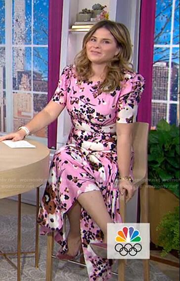 Jenna's pink floral dress on Today