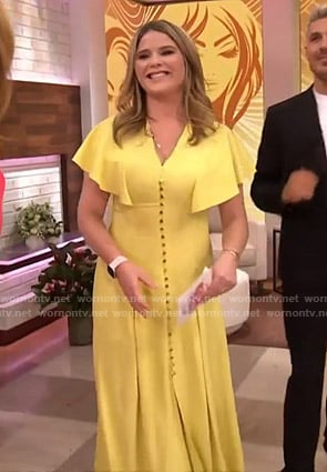 Jenna's yellow flutter sleeve maxi dress on Today