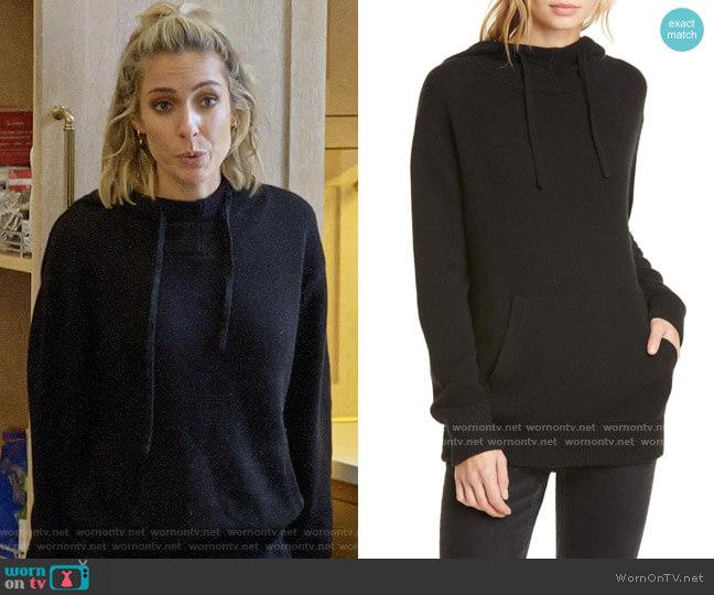 Jenni Kayne Oversize Cashmere Hoodie worn by Kristin Cavallari  on Very Cavallari