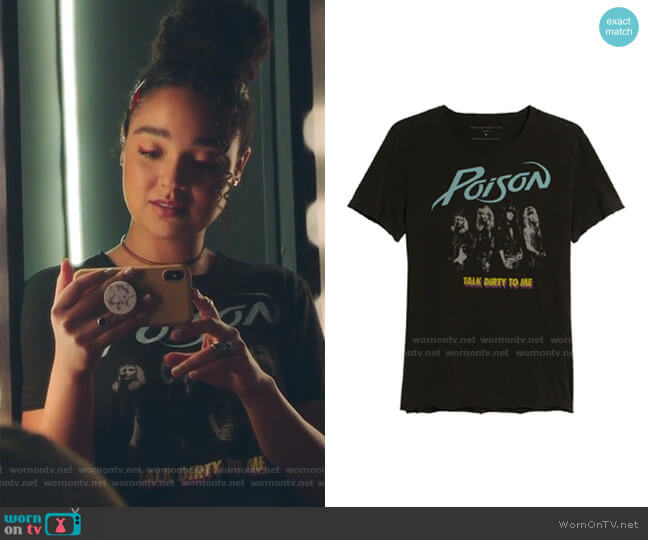 Poison Regular Fit Graphic T-Shirt by John Varvatos worn by Kat Edison (Aisha Dee) on The Bold Type