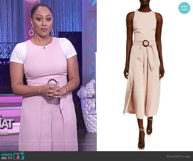 Mairead Belted Draped Sleeveless Jumpsuit by Joie worn by Tamera Mowry  on The Real