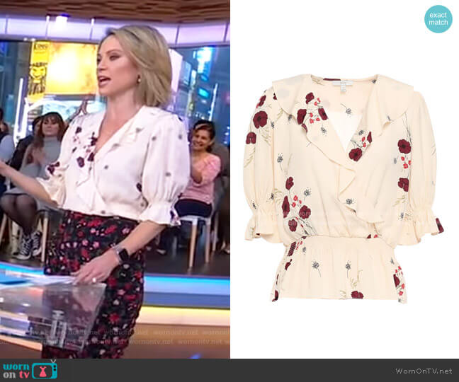 Ottoline Blouse by Joie worn by Amy Robach  on Good Morning America