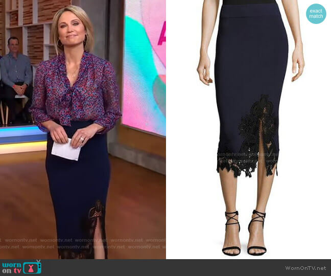 Pencil Skirt by Jonathan Simkhai worn by Amy Robach  on Good Morning America