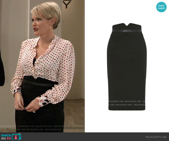 Karen Millen High Waisted Pencil Skirt worn by Ava Jerome (Maura West) on General Hospital
