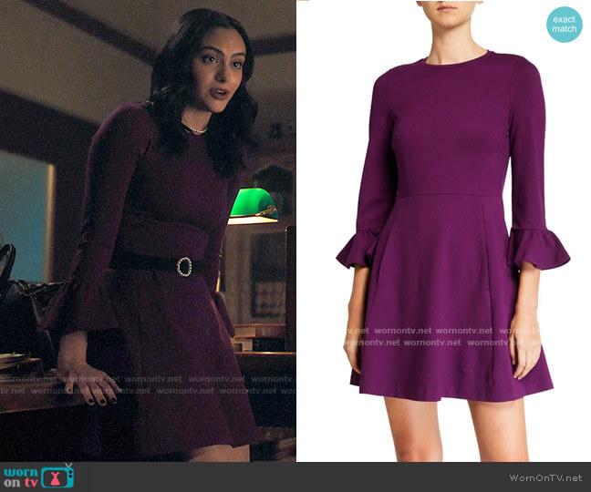 Kate Spade Bell-sleeve Ponte Skater Dress worn by Veronica Lodge (Camila Mendes) on Riverdale