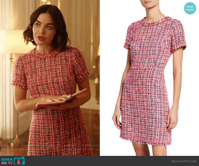 Kate Spade Multi Tweed Short Sleeve Sheath Dress worn by Katy Keene (Lucy Hale) on Katy Keene