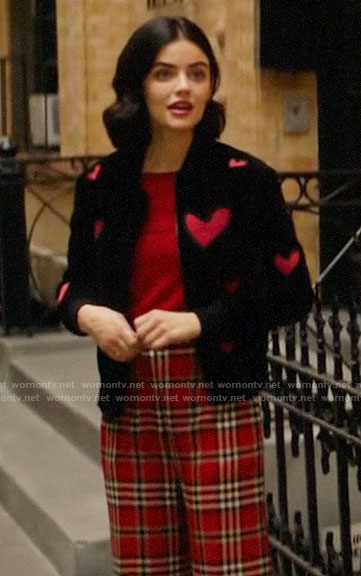 Katy's heart jacket on Katy Keene