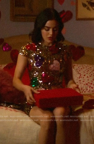 Katy's sequin hearts dress on Katy Keene