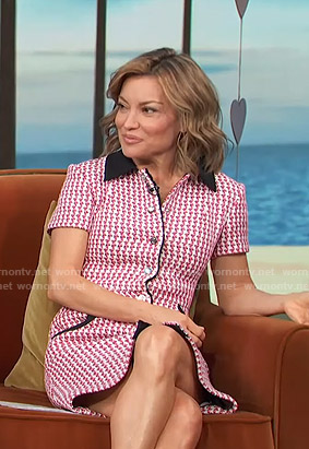 Kit's red tweed shirtdress on Access Hollywood