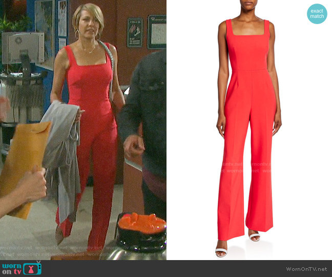 Kobi Halperin Helena Jumpsuit worn by Nicole Walker (Arianne Zucker) on Days of our Lives