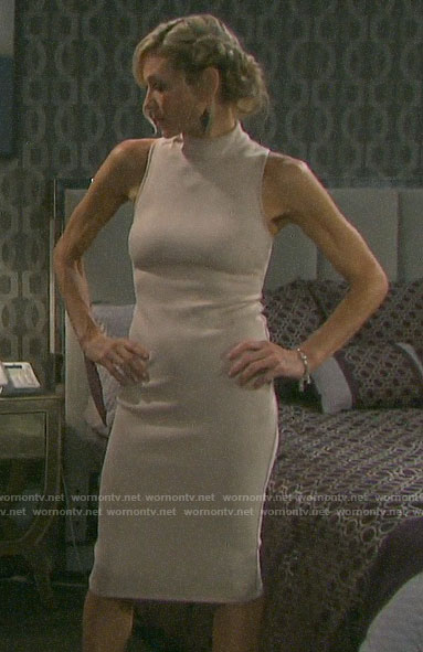 Kristen's beige suede dress on Days of our Lives