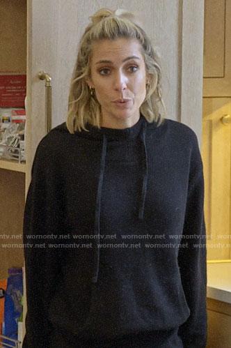 Kristin's black hoodie on Very Cavallari