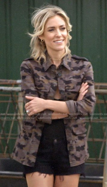 Kristin's camo jacket and Chanel espadrilles on Very Cavallari