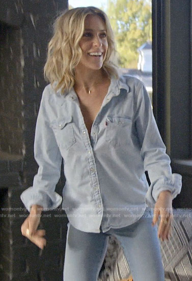 Kristin's chambray shirt on Very Cavallari