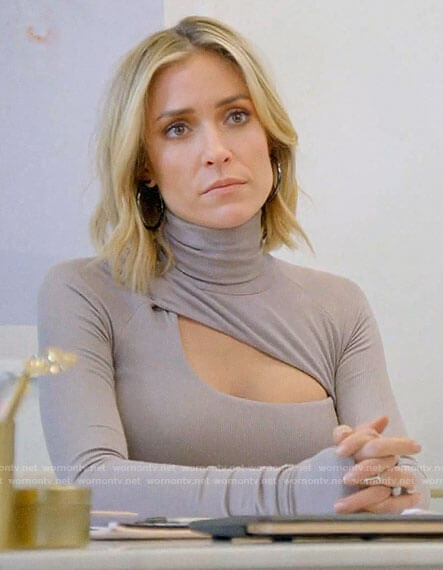 Kristin's grey cutout turtleneck on Very Cavallari