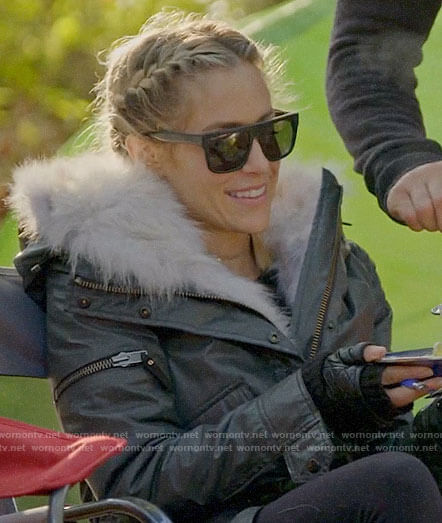 Kristin's grey parka on Very Cavallari