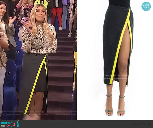 Kendall Wrap Skirt by LaQuan Smith worn by Wendy Williams  on The Wendy Williams Show
