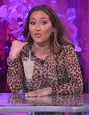 Adrienne's leopard midi dress on The Real