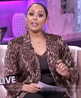 Tamera's leopard blazer on The Real