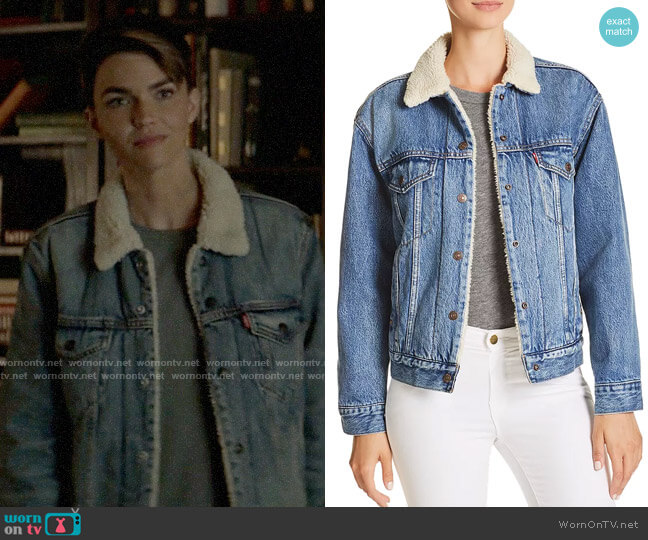 Levis Ex-Boyfriend Sherpa Trucker Jacket worn by Kate Kane (Ruby Rose) on Batwoman