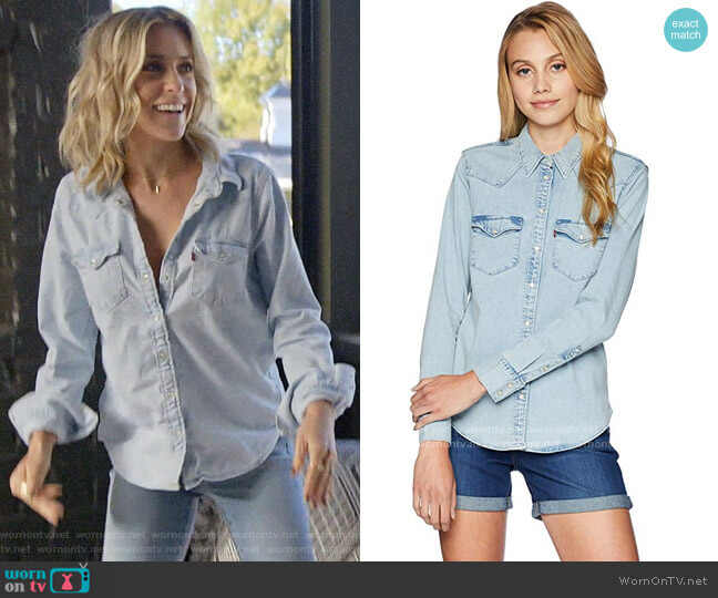 Levis Ultimate Western Shirt worn by Kristin Cavallari  on Very Cavallari