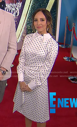 Lilliana's white polka dot dress on E! News