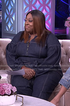 Loni's denim jumpsuit on The Real