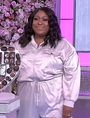 Loni's silver jumpsuit on The Real