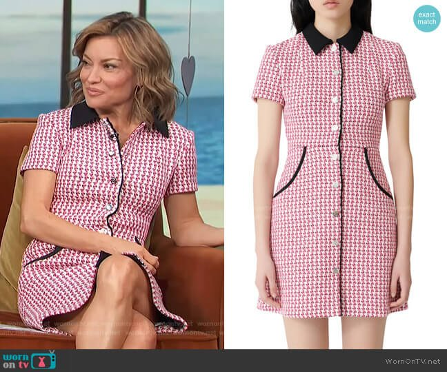 Renatya Tweed Minidress by Maje worn by Kit Hoover  on Access Hollywood