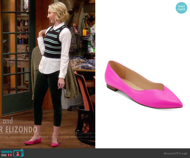 Marc Fisher Analia Flats worn by Mandy Baxter (Molly McCook) on Last Man Standing