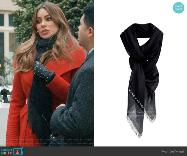 Marc Jacobs for Neiman Marcus for Target Border Scarf worn by  Gloria Pritchett (Sofia Vergara) on Modern Family