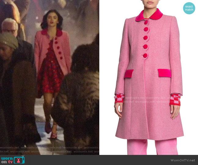 Marc Jacobs The Sunday Best Coat worn by Katy Keene (Lucy Hale) on Katy Keene