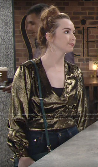 Mariah's gold top on The Young and the Restless