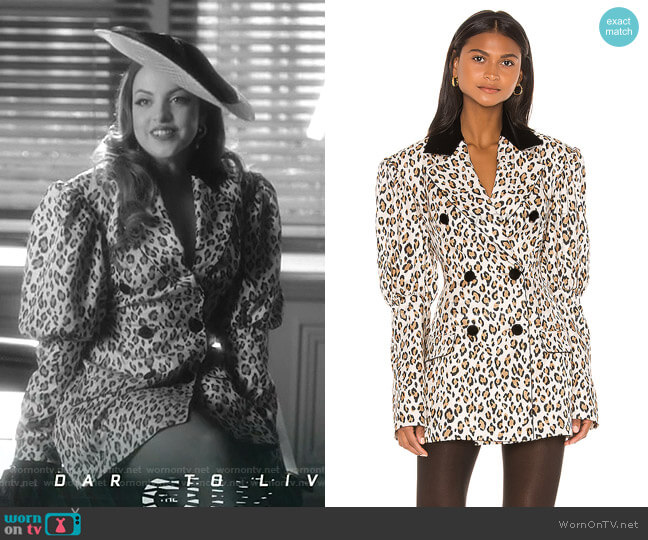 Blazer Dress by Marianna Senchina worn by Fallon Carrington (Elizabeth Gillies) on Dynasty