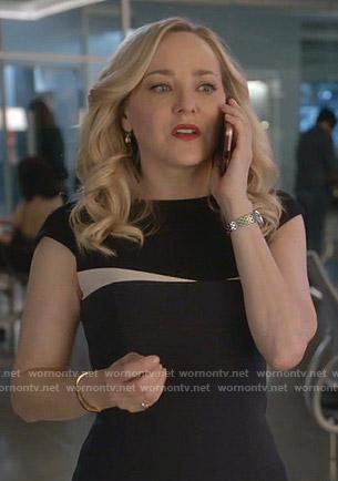 Marissa' black cap sleeve dress on Bull