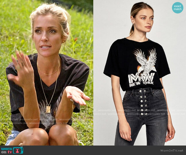 Marissa Webb Eagle Graphic Tee worn by Kristin Cavallari  on Very Cavallari