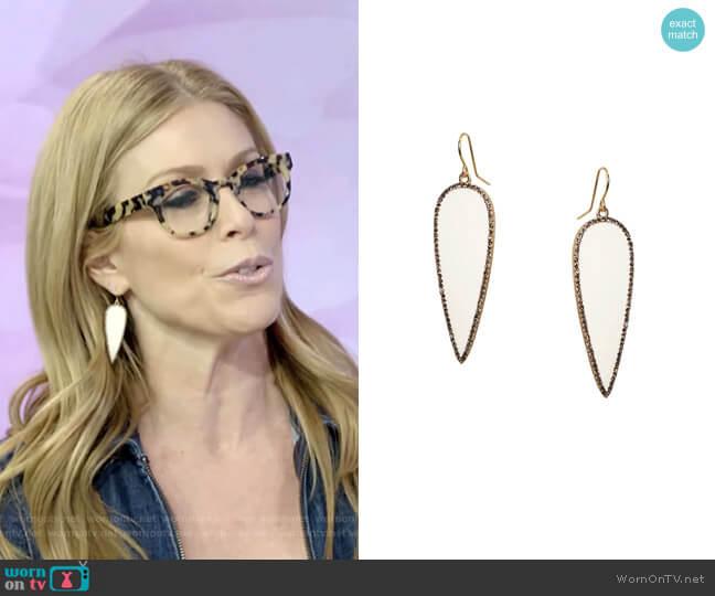 Enamel Drop Earring by Marlyn Schiff worn by Jill Martin  on Today