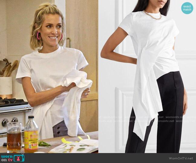 Marques Almeida Draped cotton-jersey T-shirt worn by Kristin Cavallari  on Very Cavallari