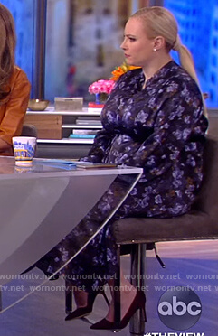 Meghan's blue floral satin dress on The View
