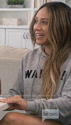 Melissa's gray Warrior hoodie on The Real Housewives of New Jersey