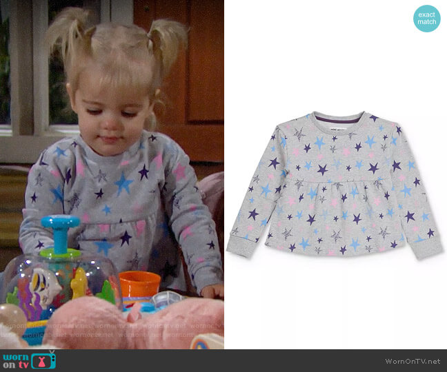 Mini Series Alicia Star Print Empire-Waist Sweatshirt worn by Kelly on The Bold and the Beautiful